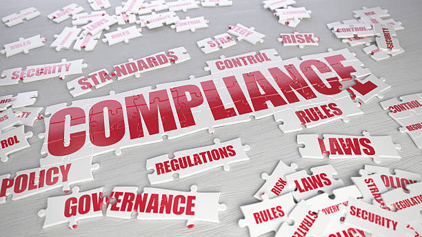 Compliance puzzle stock photo