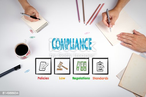 464906632 istock photo Compliance. The meeting at the white office table 814988634