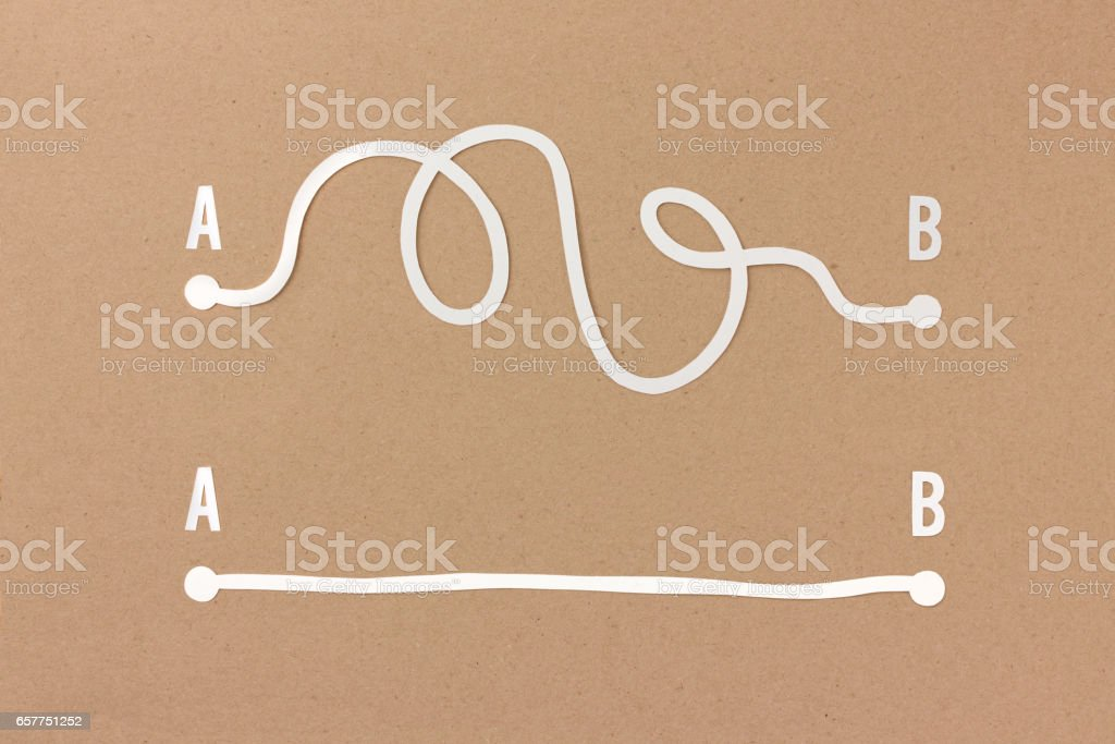 Complicated and easy solution stock photo