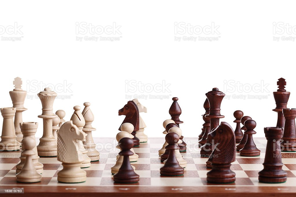 Complicated Chess Game stock photo
