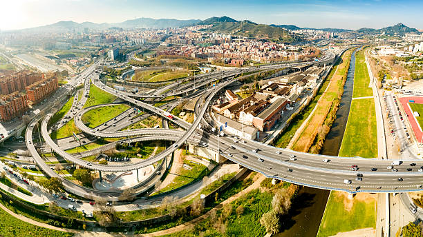 Complicated Interchange to Access Barcelona - foto de stock