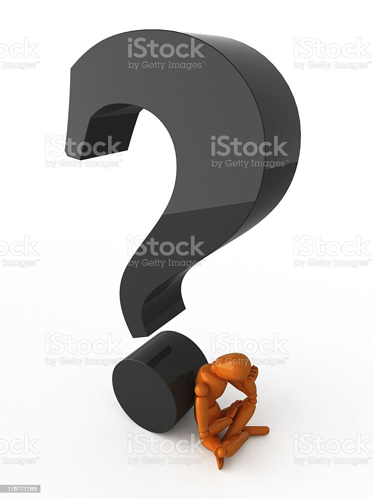 Complicated question. royalty-free stock photo
