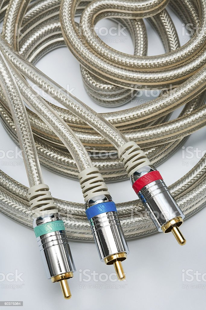 component video cable royalty-free stock photo