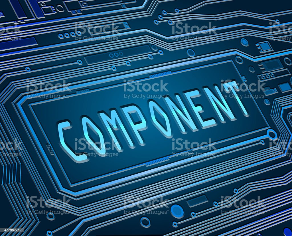 Components concept. stock photo