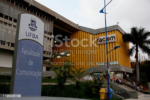 salvador, bahia / brazil  - may 21, 2014: View of the Faculty of Communication (Facom) at the Federal University of Bahia (Ufba) at the Ondina Campus in the city of Salvador.