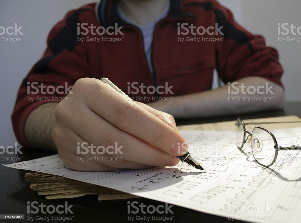 Composer at work royalty-free stock photo