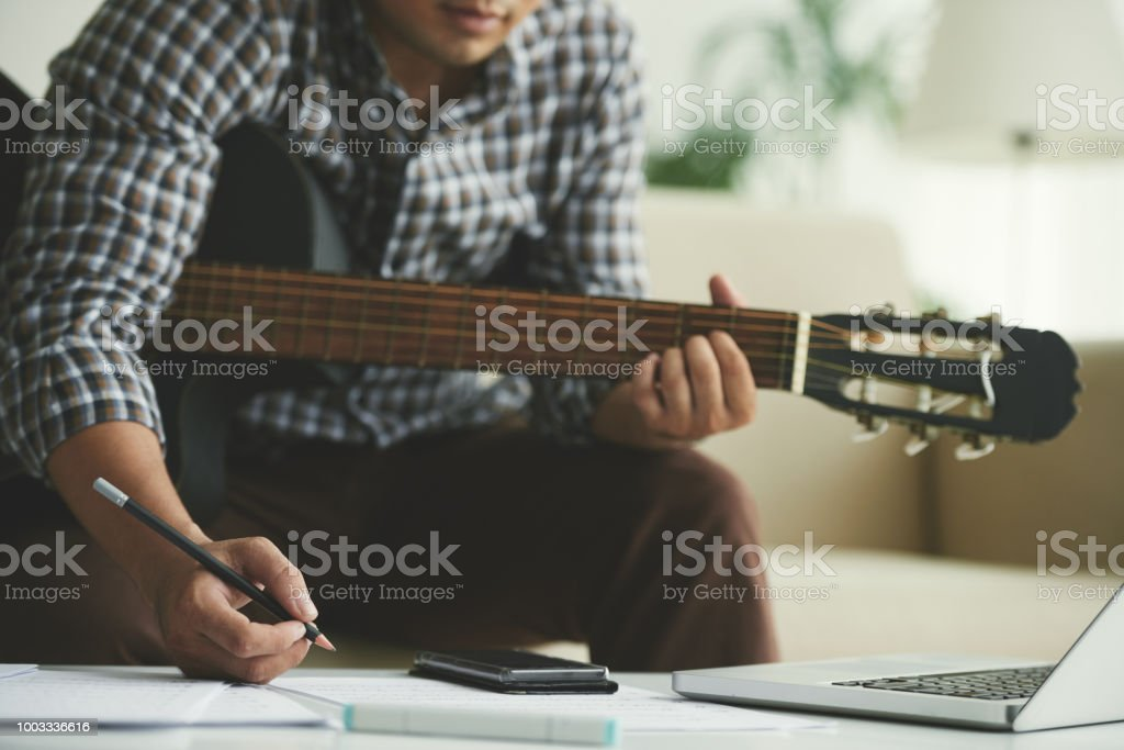 Composing music stock photo