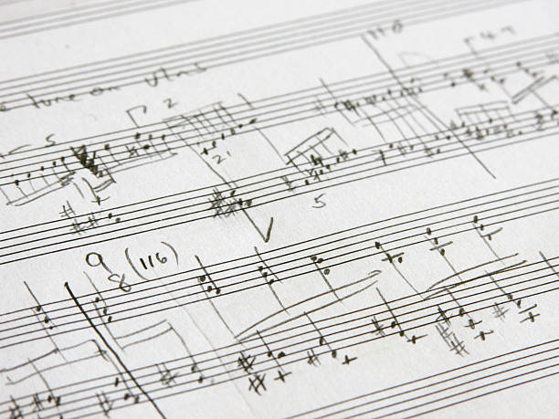 composição - desenhos de notas musicais - fotografias e filmes do acervo