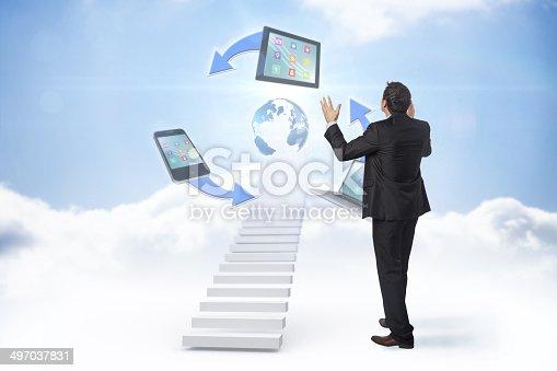 istock Composite image of gesturing businessman 497037831