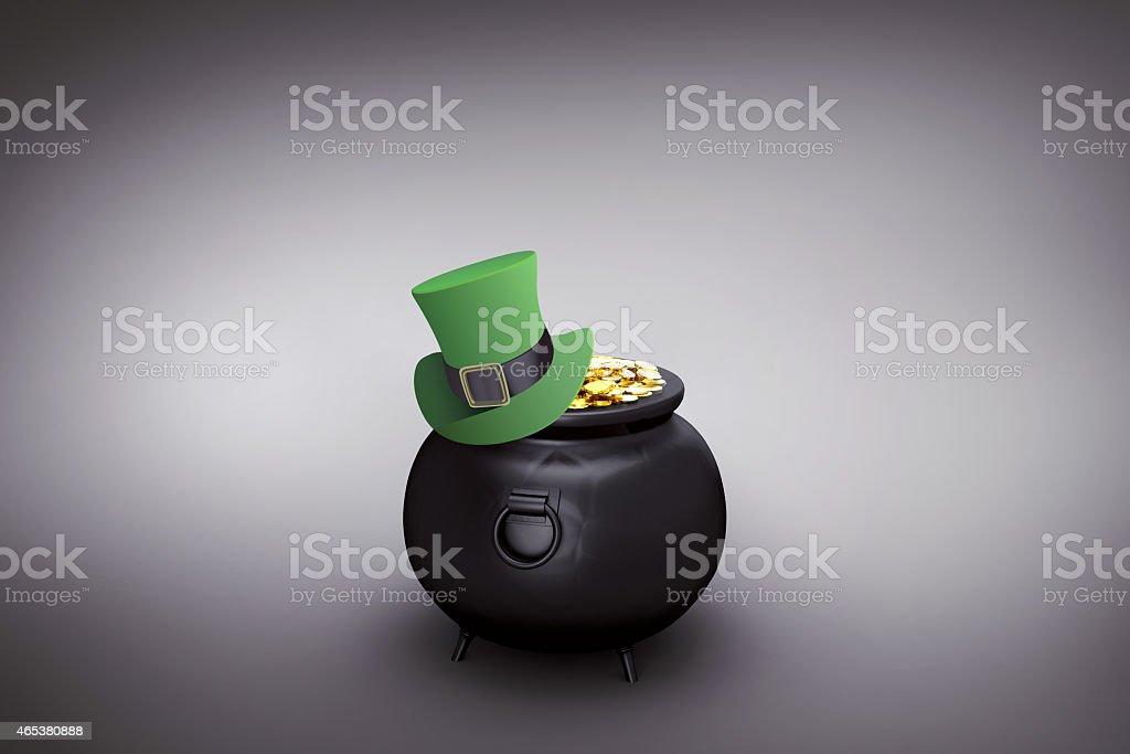 Composite image of leprechaun hat stock photo