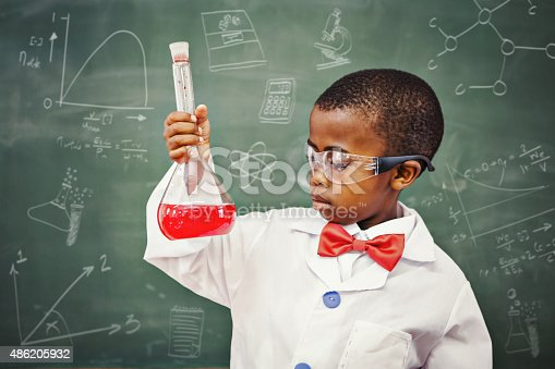 istock Composite image of math and science doodles 486205932