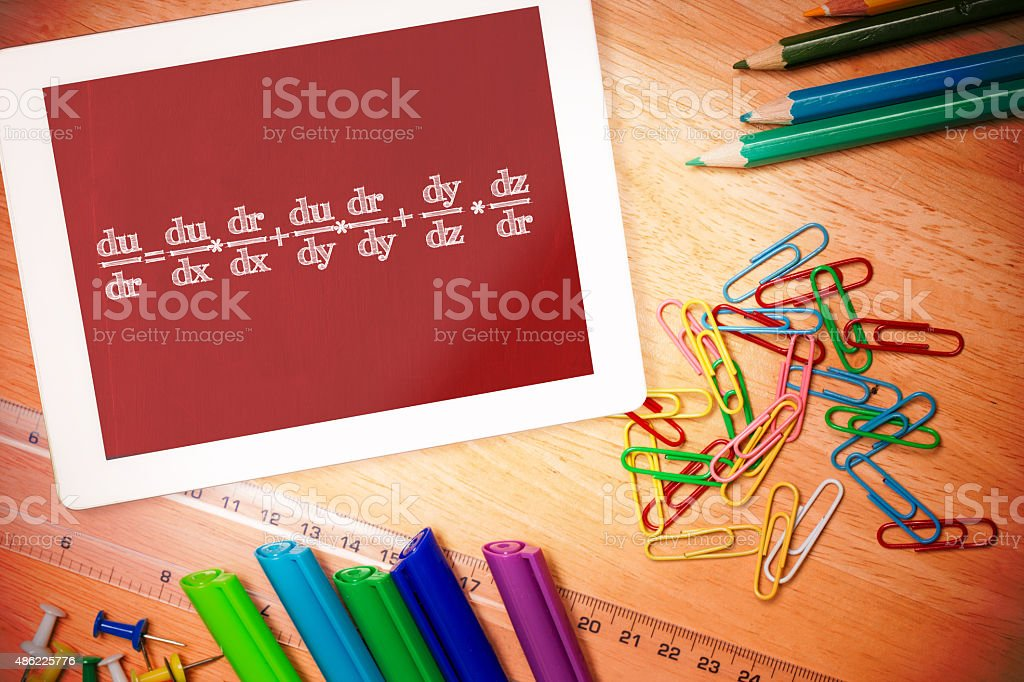 Composite image of math equation royalty-free stock photo