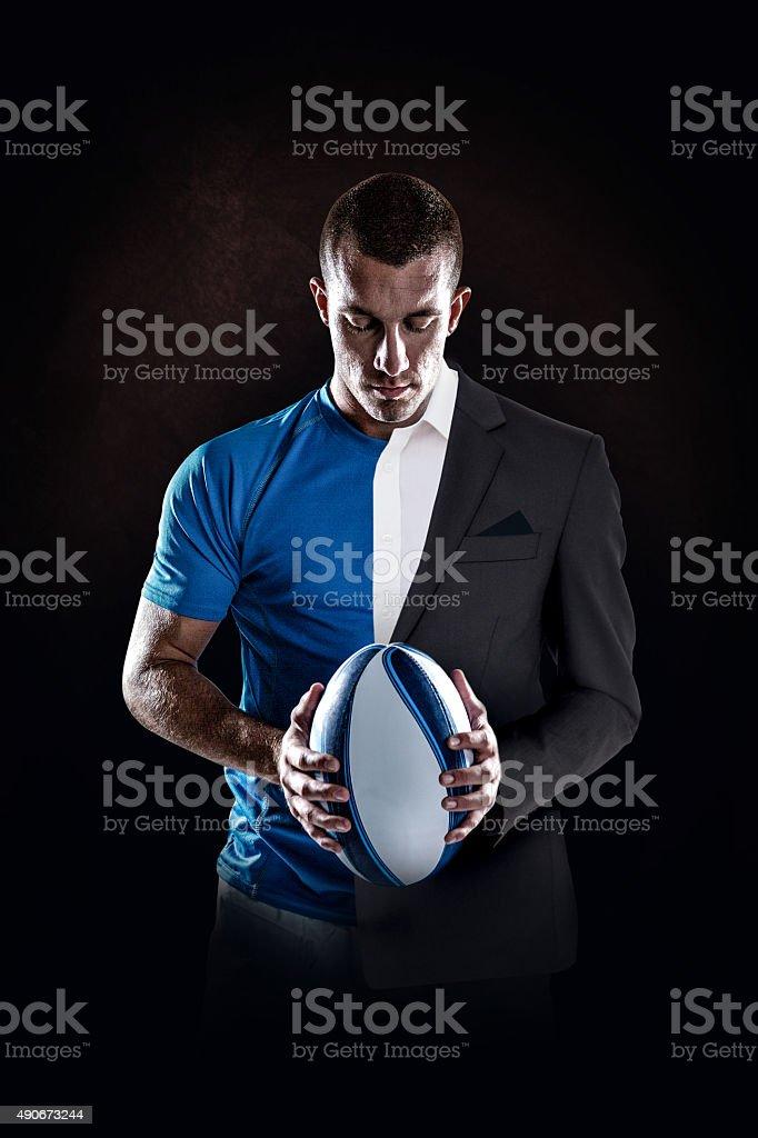 image Composite du joueur de rugby, en tenant le ballon - Photo