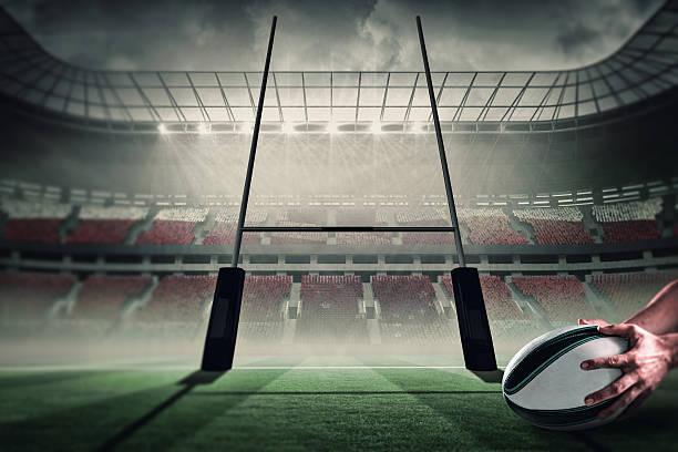 imagen compuesta de rugby puntuación de prueba - rugby fotografías e imágenes de stock
