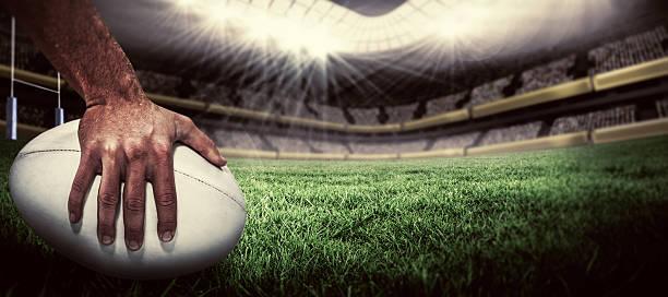 composite-bild-rugby player-punkten versuchen - rugby stock-fotos und bilder