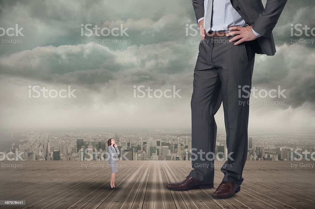 Giant Man Tiny Woman