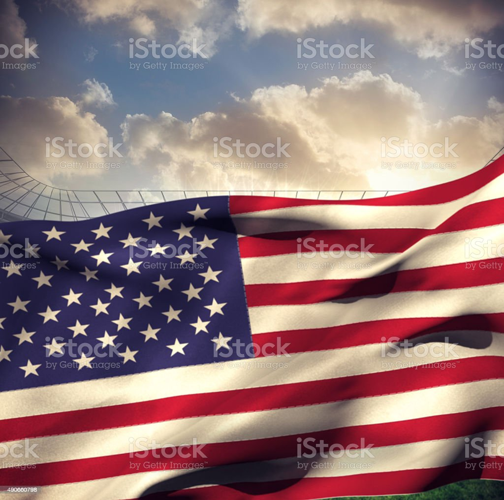 Composite image of waving american flag stock photo
