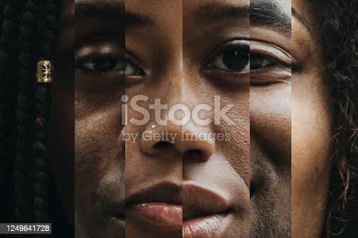 istock Composite of Portraits With Varying Shades of Skin 1249641728
