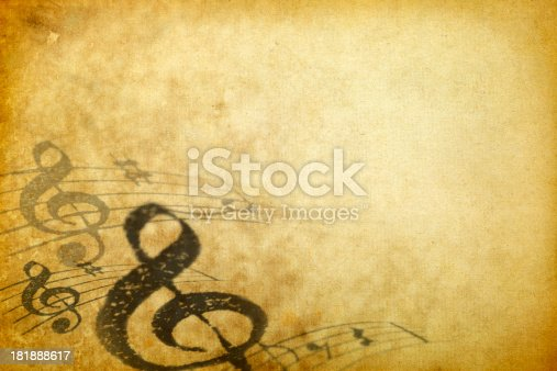 Yellowed Composition Background with Copy Space