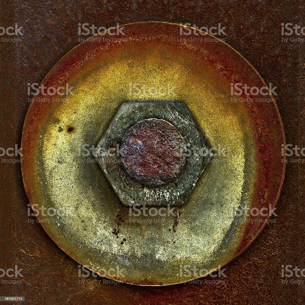 Composition in a square from  details rusty royalty-free stock photo