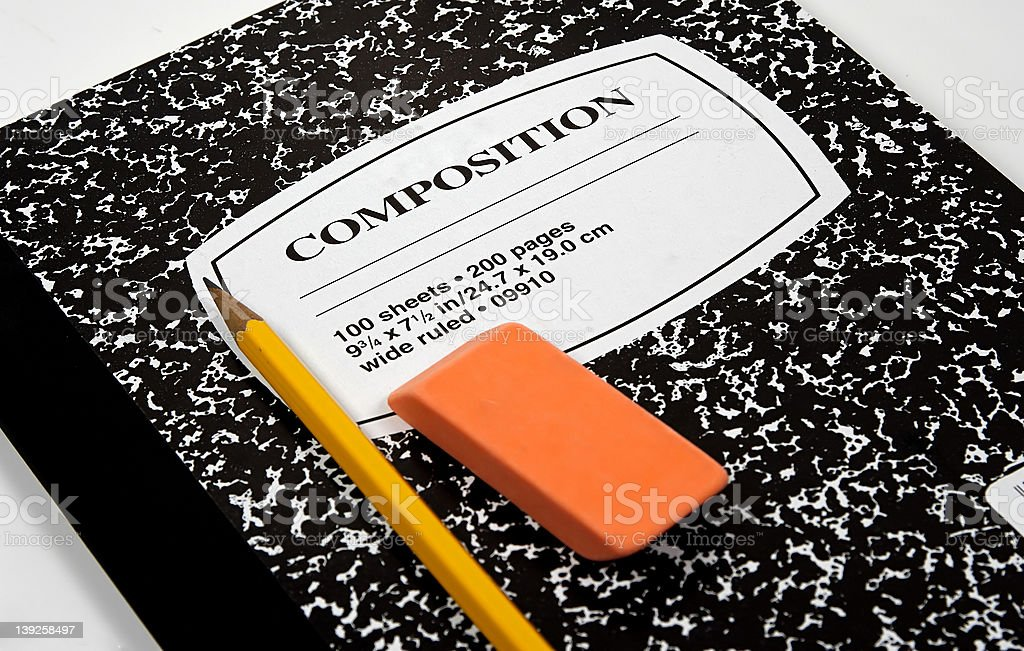 Composition Notebook 2 royalty-free stock photo