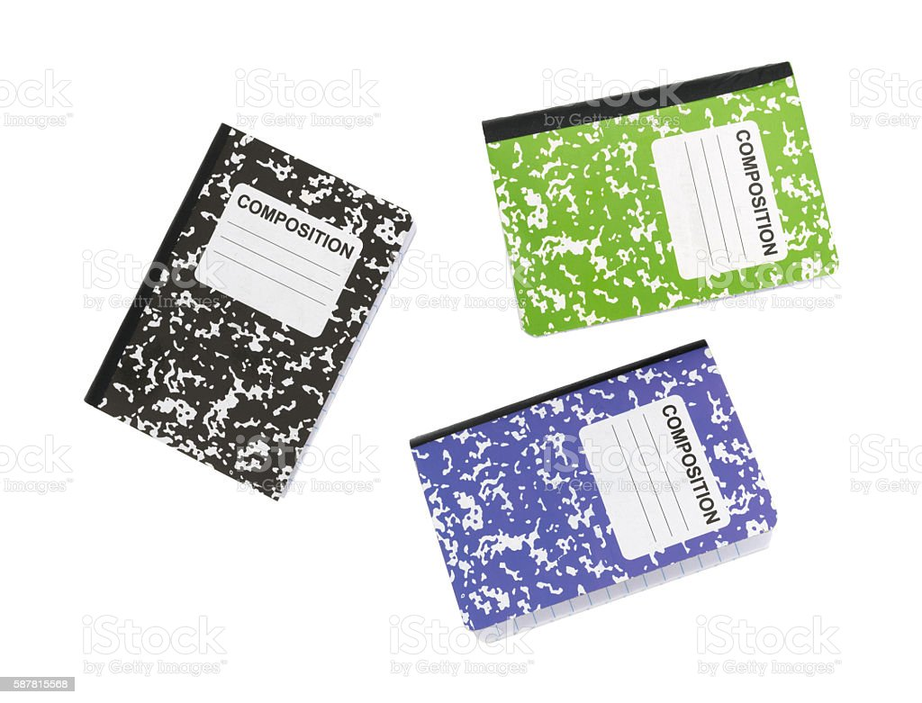 Composition Book Cover Background ~ Composition notebooks on a white background stock photo more