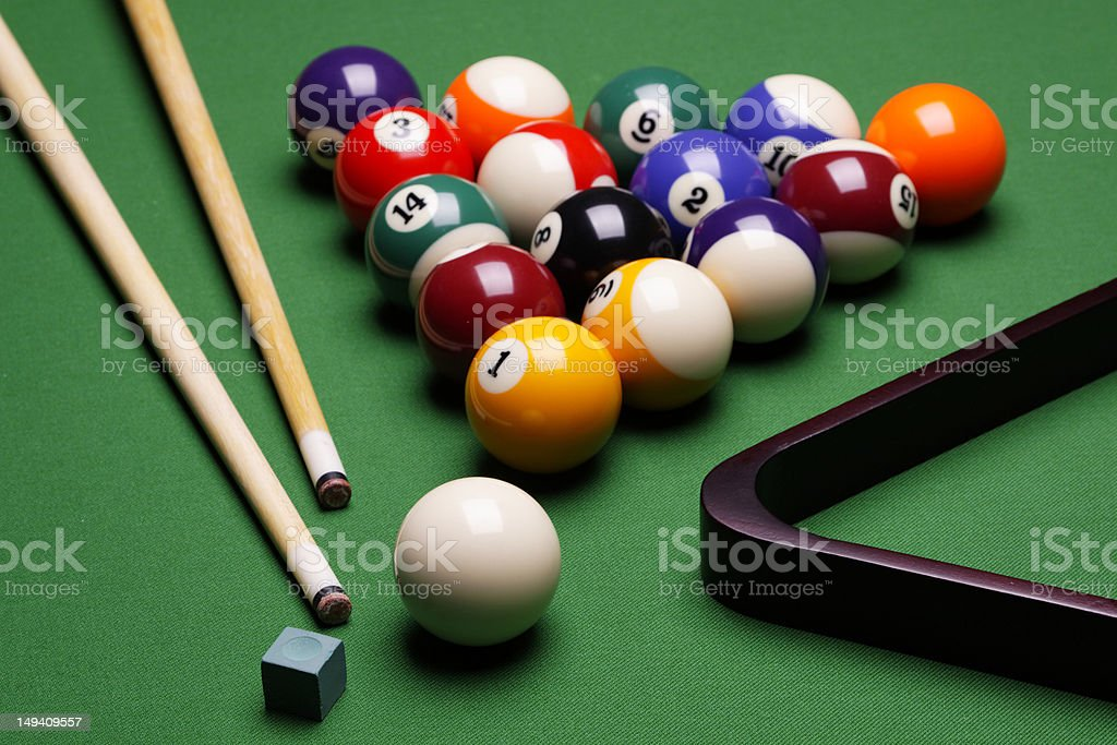 Attirant Composition Of Billiard Stock Photo