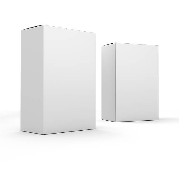 composition of blank boxes stock photo