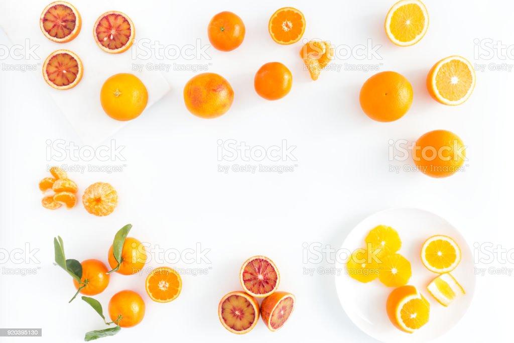 Zusammensetzung des Blutes Orangen, Orangen und Clementinen – Foto