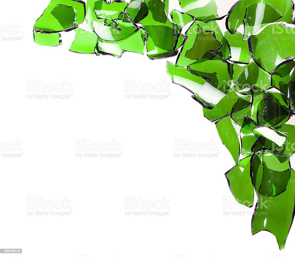 Composition of broken bottles royalty-free stock photo