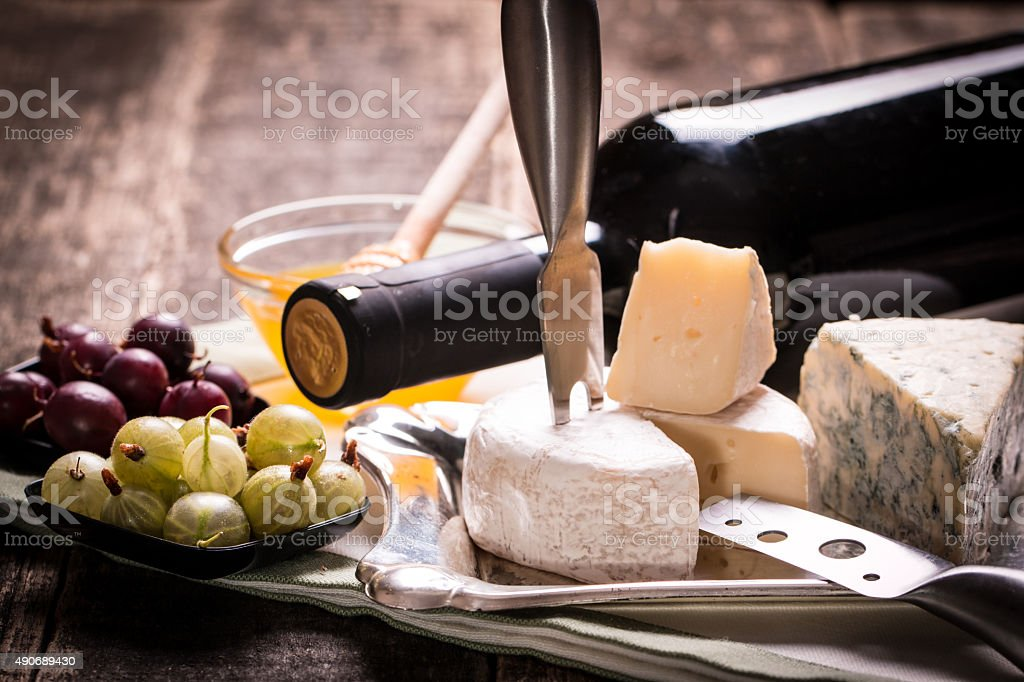 Composition of cheese stock photo