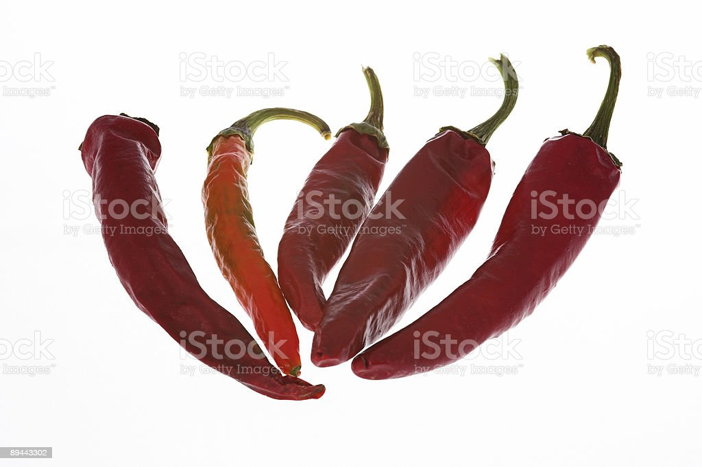 Composition of dried hot paprika royalty-free stock photo