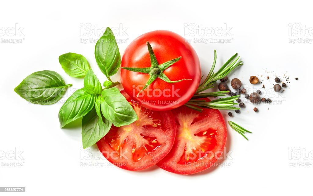 composition of fresh vegetables and spices