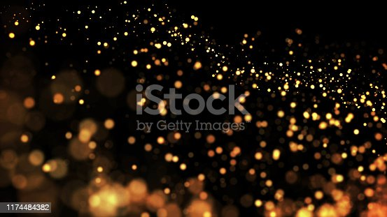 istock composition of gold particles with a depth of field 3d render 1174484382