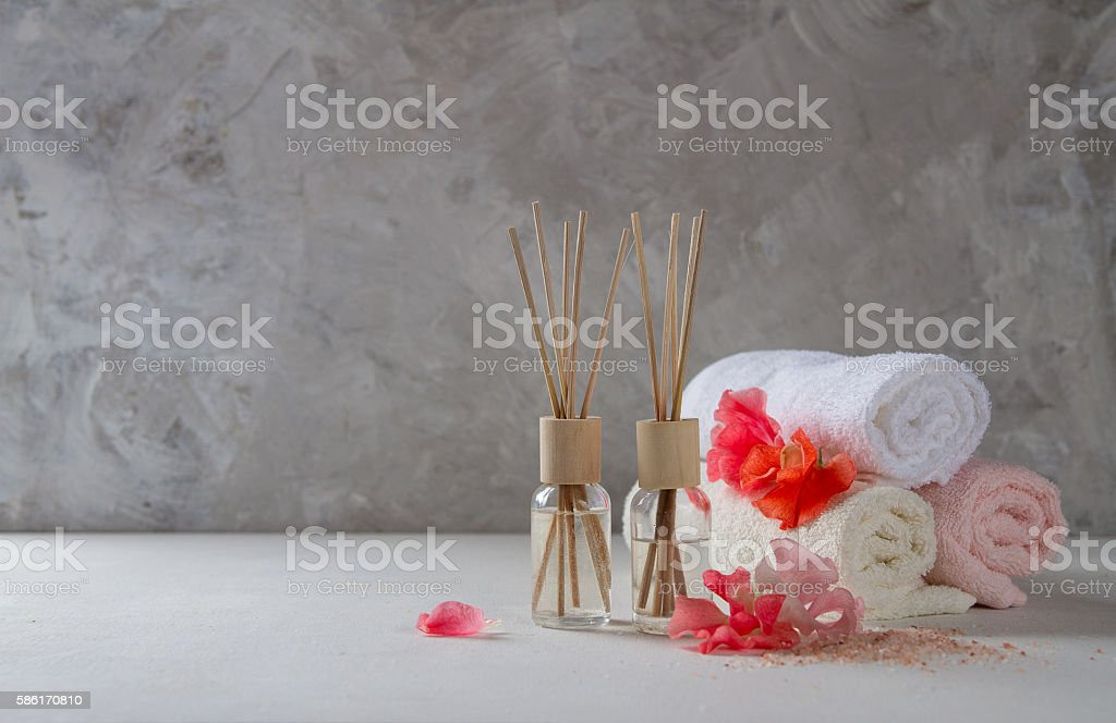 Composition of spa treatment stock photo