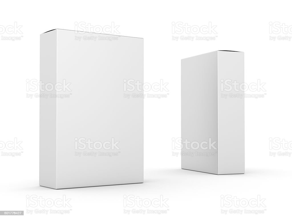 composition of two boxes stock photo