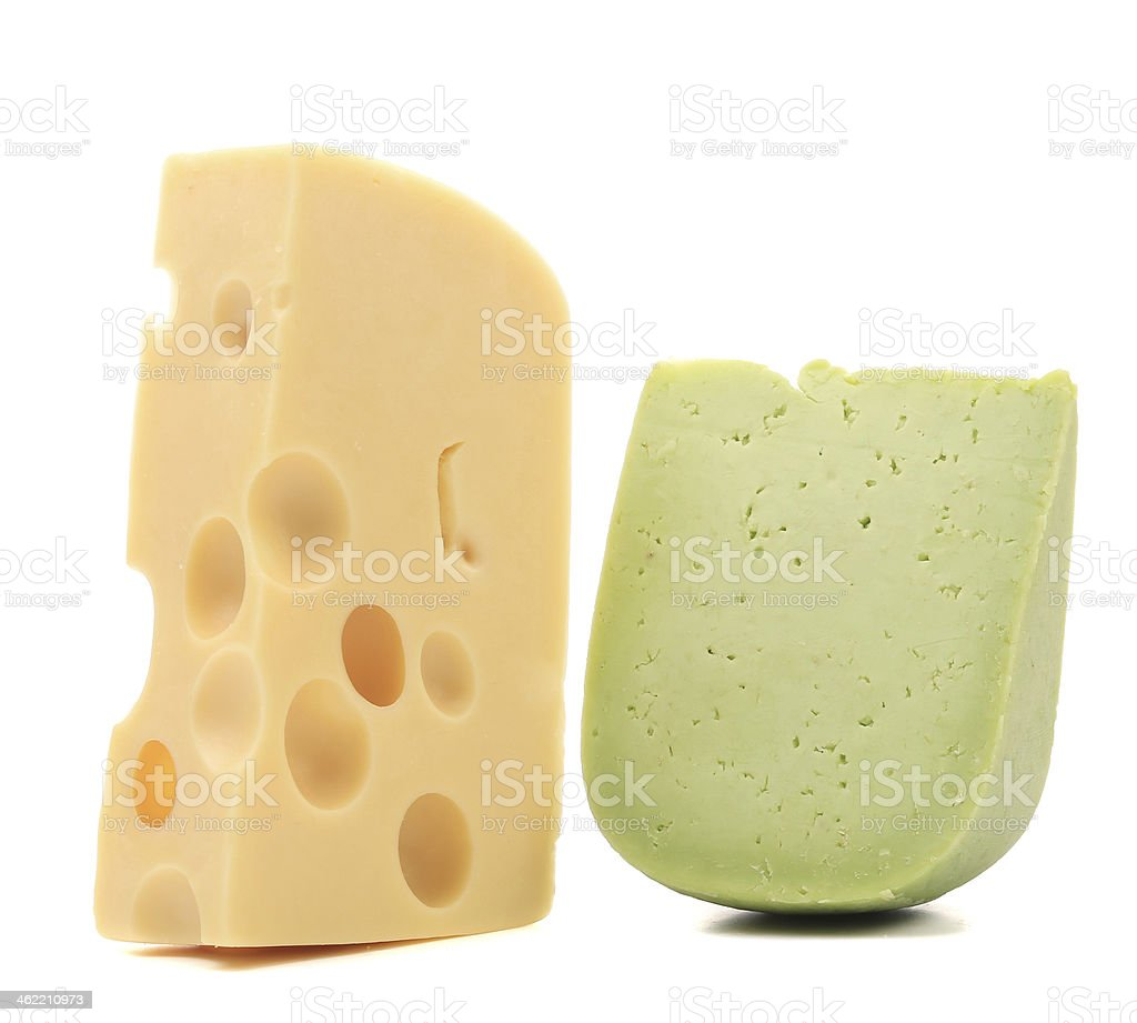 Composition various types of cheese. stock photo