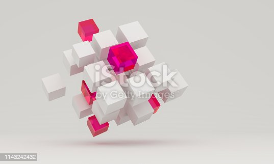 istock Composition with 3d cubes 1143242432