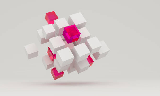 composition avec cubes 3d - cube photos et images de collection