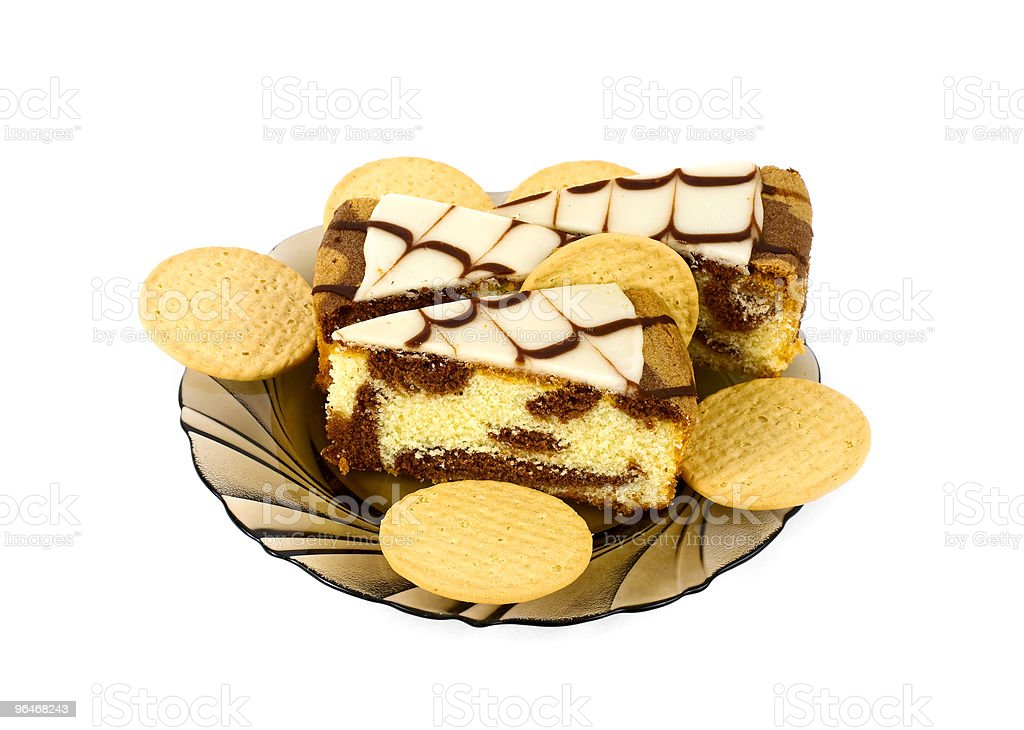Composition with biscuits and cake royalty-free stock photo