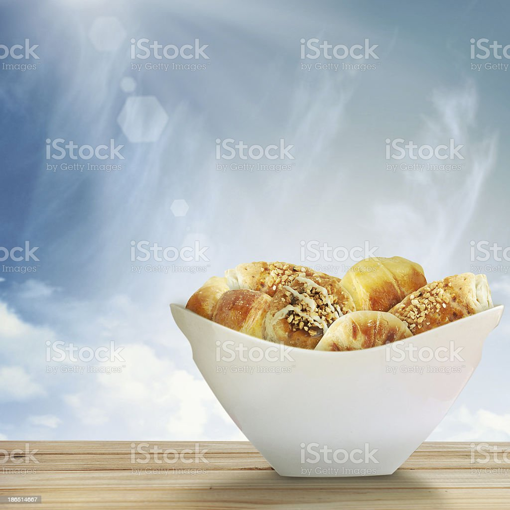 Composition with buns royalty-free stock photo