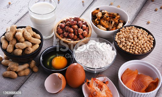 istock Composition with common food allergens 1263666425