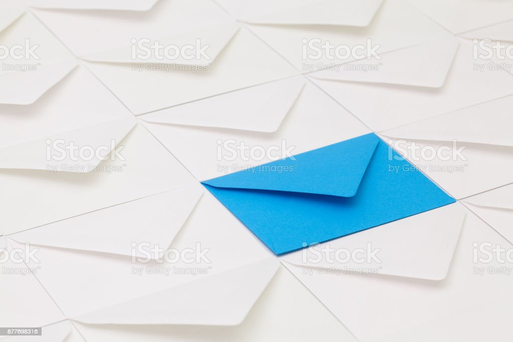 Composition with envelopes stock photo