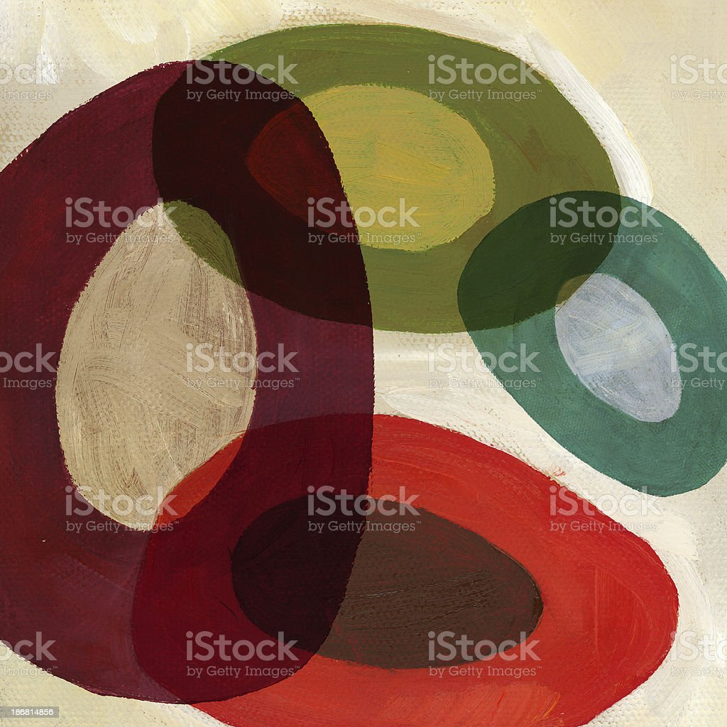 Composition with ovals royalty-free stock photo