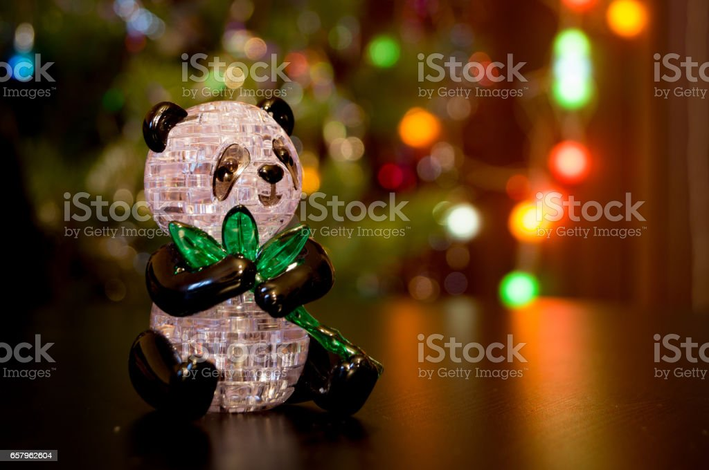 Composition with panda toy stock photo