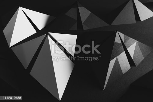 istock Composition with triangular elements for abstract background 1142019488
