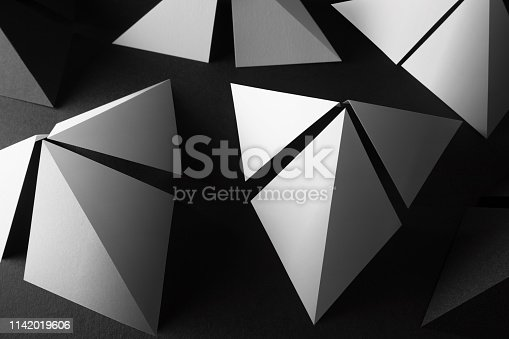 istock Composition with triangular elements for abstract background 1142019606