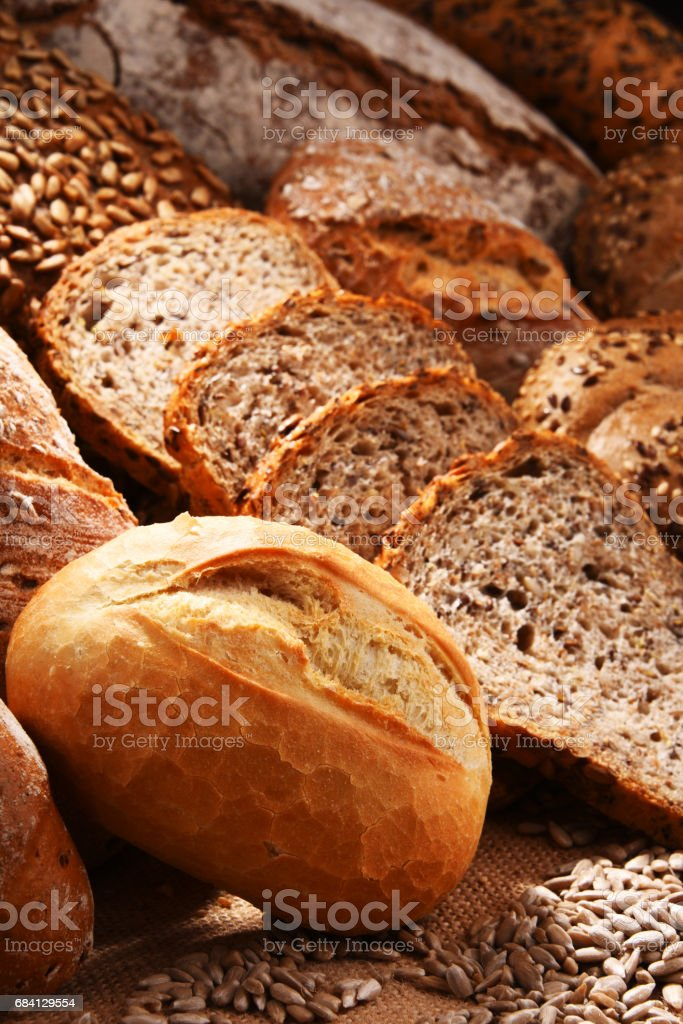 Composition with variety of baking products royalty free stockfoto