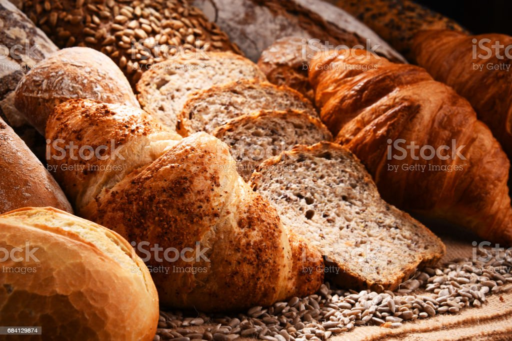 Composition with variety of baking products royaltyfri bildbanksbilder