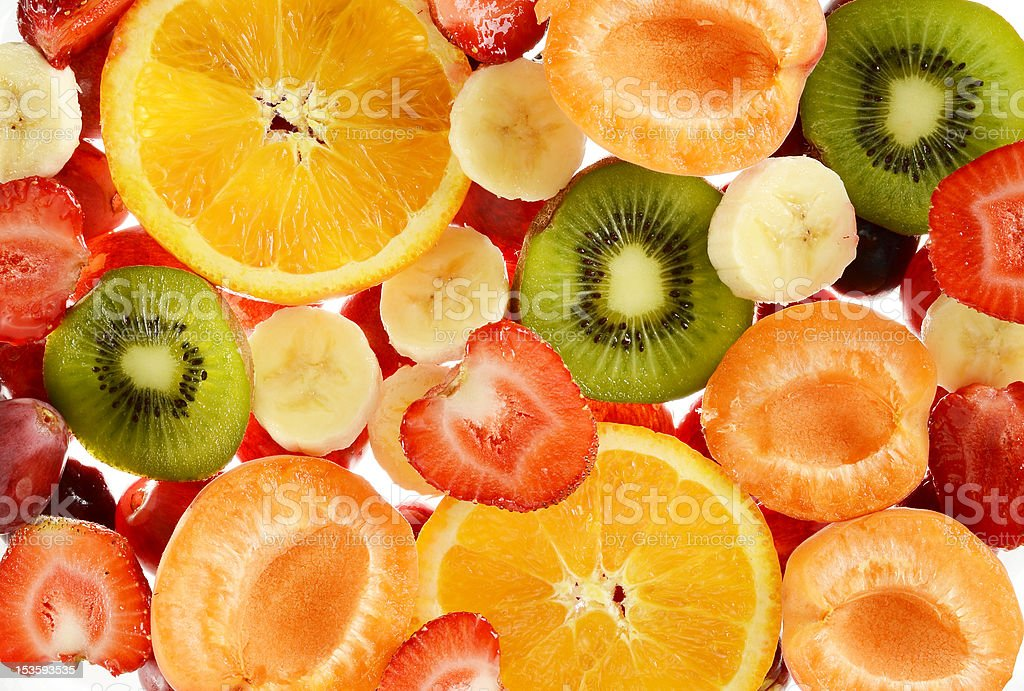 Composition with variety of fruits royalty-free stock photo